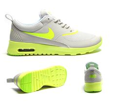Nike Womens Air Max Thea Trainer | Bone / Volt / Silver | Footasylum