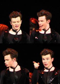 "chriscolfernews: "" adropofred: "" do you love me yet (all pictures from Glee live in London, 06/25/11, matinee) "" These are great! Thanks :) """