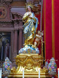 Statue Our Lady Lilies Maqbba Malta - Stock Photo , Mama Mary, Mary I, Holy Mary, Blessed Mother Mary, Blessed Virgin Mary, Queen Of Heaven, 17th Century Art, Religious Images, Catholic Art