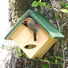 "birdhouses Next Post Previous Post Nistkasten ""Panama"" halb offen Da Bird House Plans Free, Bird House Kits, Wooden Bird Houses, Bird Houses Diy, Bird House Feeder, Bird Feeders, Wood Projects, Woodworking Projects, Garden Projects"