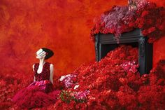 """An image from the Neiman Marcus catalogue taken by Erik Madigan Heck, one of the photographers featured in """"Don't Stop Now: Fashion Photography Next"""". Artistic Fashion Photography, History Of Photography, Art Photography, Monochrom, Photo Retouching, Photo Colour, Shades Of Red, Lady In Red, Neiman Marcus"""
