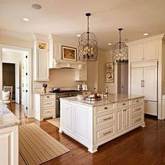 Adele Foyer Pendant, Traditional, kitchen, Sherwin Williams Antique White, Carolina Design Associates