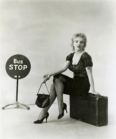 Marilyn Monroe promotional photo for 'Bus Stop', 1956