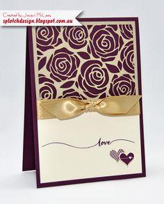 Splotch Design - Jacquii McLeay - Stampin Up - Artisan Embellishment Card
