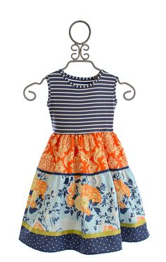 Persnickety Della Dress for Girls Alpine Daisy $84.00