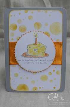 Caros Bastelbude Karte zum Geburtstag - mein Beitrag zur Challenge #46 bei den Stampingirls Smart Saturday, Giggle Greetings, Stampin' Up!