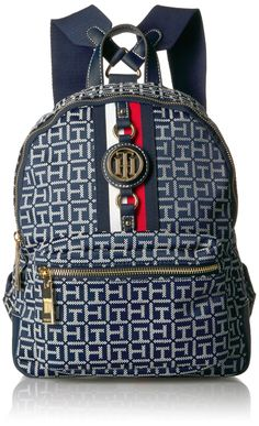 b572b688d01 Tommy Hilfiger Womens Backpack Jaden Navy/White ** For more information,  visit image