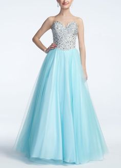 Sweetheart Beaded Bodice Tulle Ball Gown - David's Bridal