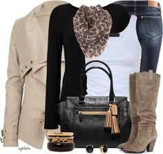 A simple but doable outfit. The trick is in the layers!