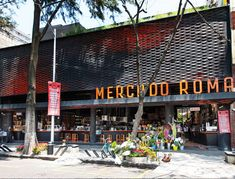 A fun take on the traditional covered markets, the Mercado Roma is a one-stop-shop for indie gourmet snacks.