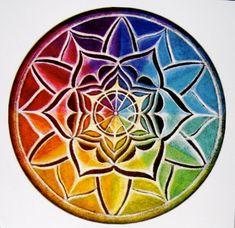 color wheel mandala