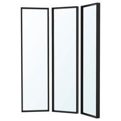 NISSEDAL black, Mirror combination, 130x150 cm - IKEA