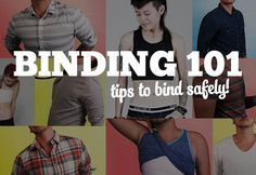 For trans (and cis!) folks, binding is a great way to reduce chest dysphoria, feel more comfortable, and affirm our identities. Here's how to bind safely.<--- Because you were so concerned mom. Binder Ftm, Transgender Tips, Trans Boys, Drag King, Gay, Genderqueer, Lgbt Community, My Guy, Equality