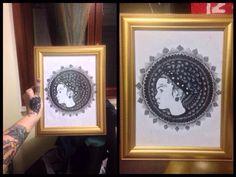 Mandala portrait by Mar Tattoo Mandala, Portrait, Tattoos, Frame, Home Decor, Picture Frame, Tatuajes, Decoration Home, Room Decor