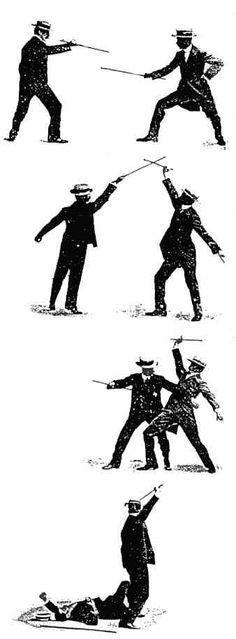 Self Defence With A Walking Stick 1900 Bartitsu Stick