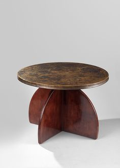 Treu Salon Tisch Walnuss Round Coffee Table 1930 Art Deco Design Walnut Antiquitäten & Kunst