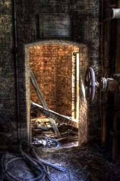 A small room behind the Boiler Room    Hellingly Hospital