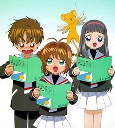 Shaoran, Sakura, Tomoyo e Kero