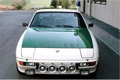 Der Porsche 924 war ein ideales Auto für die Autobahnpolizei.