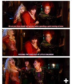 Hocus Pocus my favorite movie - This is each side of my personality all at once