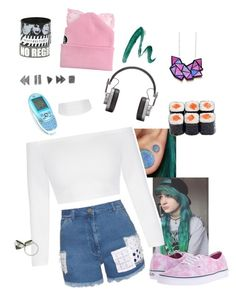 """""""Untitled #517"""" by just-words-on-another-page ❤ liked on Polyvore featuring House of Holland, Silver Spoon Attire, Elyse Jacob, Vans, Master & Dynamic and Yves Saint Laurent"""
