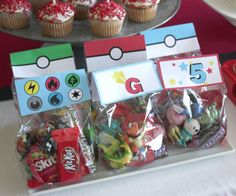 Printable Favor toppers Pokemon birthday party
