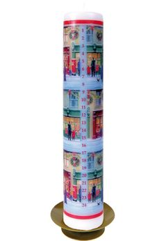Vintage Christmas Advent Candle at BBC Shop