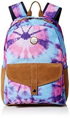 Roxy Juniors Caribbean Polyester Backpack, Tie Dye, One Size #Roxy #Backpack