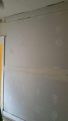 New sheet rock on wall in bedroom