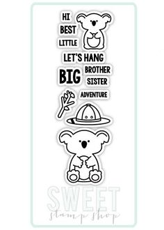 Koala Family stamp set by Sweet Stamp Shop