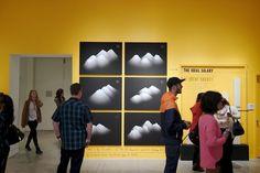 The Happy Show at MOCA — Minimally Minimal Moca Museum, Happy Show, Stefan Sagmeister, Emo, Museum Of Contemporary Art, Booth Design, Minimalism, Exhibitions, Prison