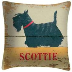Scottie pillow, approved for Scottie naps