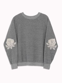 Bliss And Mischief – Western Roses Embroidered Sweatshirt