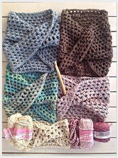 Free pattern. Twisted Crochet Cowl