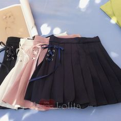 ♥Material:+made+of+cotton ♥Color:+white,pink,black,+navy+blue,light+blue ♥better+wear+safety+shorts+with+it ♥Size+Reference: ♥Size+S ♥Size+M ♥Size+L ♥♥♥♥♥♥♥♥♥♥♥♥♥♥♥♥♥♥♥♥♥♥. Cute Skirt Outfits, Cute Skirts, Pretty Outfits, Cool Outfits, Korean Fashion Dress, Japanese Fashion, Skirt Fashion, Girls Fashion Clothes, Fashion Outfits