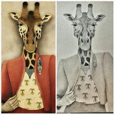 Colección Animalaria  #jirafa #giraffe #wildlife #ilustración #illustration #arte #diseño #handmade #style #fashion #sabana #creativo