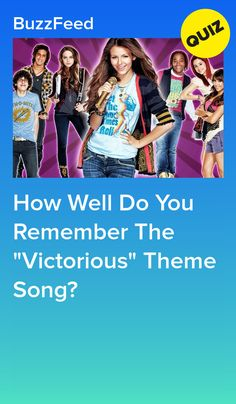 "How Well Do You Remember The ""Victorious"" Theme Song? Victorious Nickelodeon, Icarly And Victorious, High School Musical Quizzes, 2000 Songs, Quizzes For Fun, Cat Valentine Victorious, Ariana Grande Facts, Interesting Quizzes, Amigurumi"