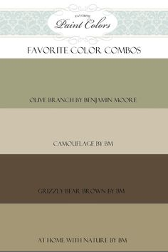 Favorite Paint Colors: Great site to see colors in actual rooms. lots of choices with color names. Olive Branch for exterior Interior Paint Colors, Paint Colors For Home, House Colors, Living Room Paint Colours, Tuscan Paint Colors, Rustic Paint Colors, Pintura Exterior, Paint Schemes, Color Schemes