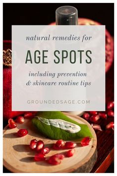 """natural remedies for how to reduce age spots. organic skincare products that lighten, fade, or reduce age spots overtime. Healthy treatment for age spots of face or hands SKIN CARE QUESTION: """"What can I do about the age spots appearing on my 65 year old face?"""" ANSWER: So age spots, are actually more to do with cumulative sun damage than they are with age. What's happening is that the pigment-producing cells in our ... Read more Primrose Oil, Evening Primrose, Natural Organic Makeup, Organic Skin Care, 65 Years Old, Year Old, Ground Sage, What Can I Do, I Can"""
