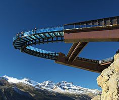 Canadian Rockies opening in May 2014Glacier Skywalk - and the thrill of edging out 918 feet above the ground on a piece of glass.