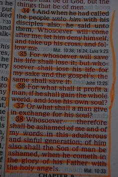 Bible verses Mark 8:34-38