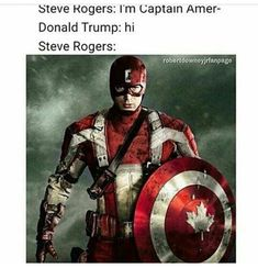 Funny but Steve would never betray his beloved America. Instead he'd beat the living hell outta Trump and put him in a prison to rot away forever and rescue America like the true soldier he is.