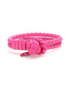 #bottegaveneta - knot woven leather bracelet