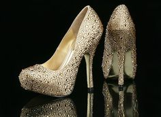 Benjamin Adams Rio Champagne Lace / Nude Silk Evening Shoes