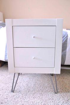 Expedit wall shelf into nightstand