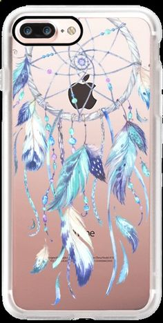 Phone Cases - Casetify iPhone 7 Plus Case and other Boho iPhone Covers -Watercolor Blue Dreamcatcher by Ruby Ridge Studios | Casetify