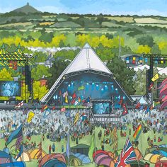 """Check out this @Behance project: """"Pyramid Stage Glastonbury"""" https://www.behance.net/gallery/54224585/Pyramid-Stage-Glastonbury"""