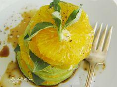 Avocado, Orange and Basil Salad