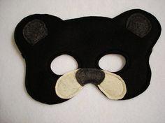 OSO negro de la infancia sentía máscara por magicalattic en Etsy, $12.50