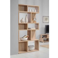 Buy the Apollo Sonama Oak Effect Tall Wide Bookcase Wide Bookcase, Large Bookshelves, Tall Shelves, Cube Shelves, Cube Storage, Living Room Sets, Living Room Furniture, Living Room Decor, Dining Room